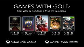 Microsoft revela Games With Gold de fevereiro de 2021