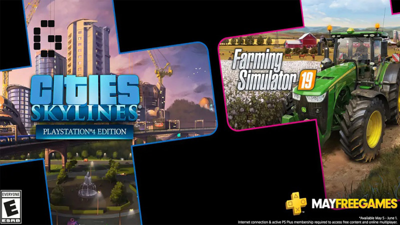Cities: Skylines e Farming Simulator 19 grátis na PSN Plus