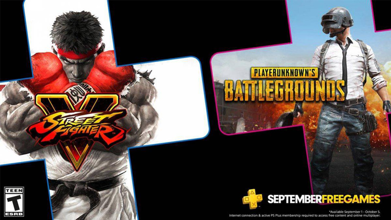 PSN Plus terá Street Fighter V e PUBG: PlayerUnknown's Battlegrounds em setembro de 2020